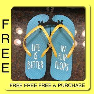 Shoes - FREE w Purchase Flip Flops Sandals Fun Gift NWT